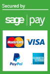 We accept Credit/Debit Card, PayPal payments securely via SagePay